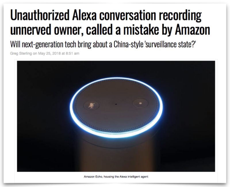 Screenshot of article on Alexa